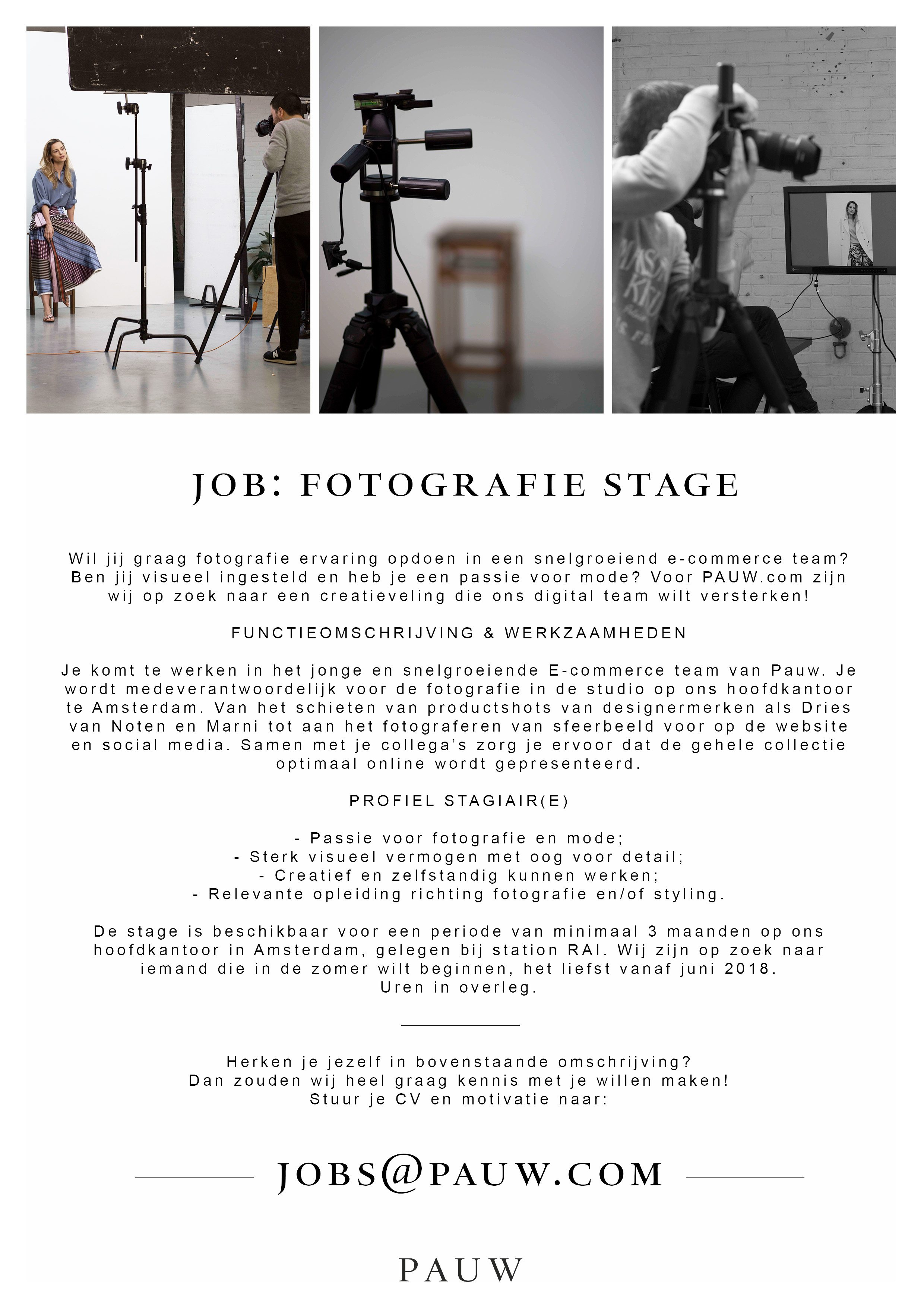 Stages | Stagaire | Akademie Vogue | Stylingopleiding | Amsterdam ...