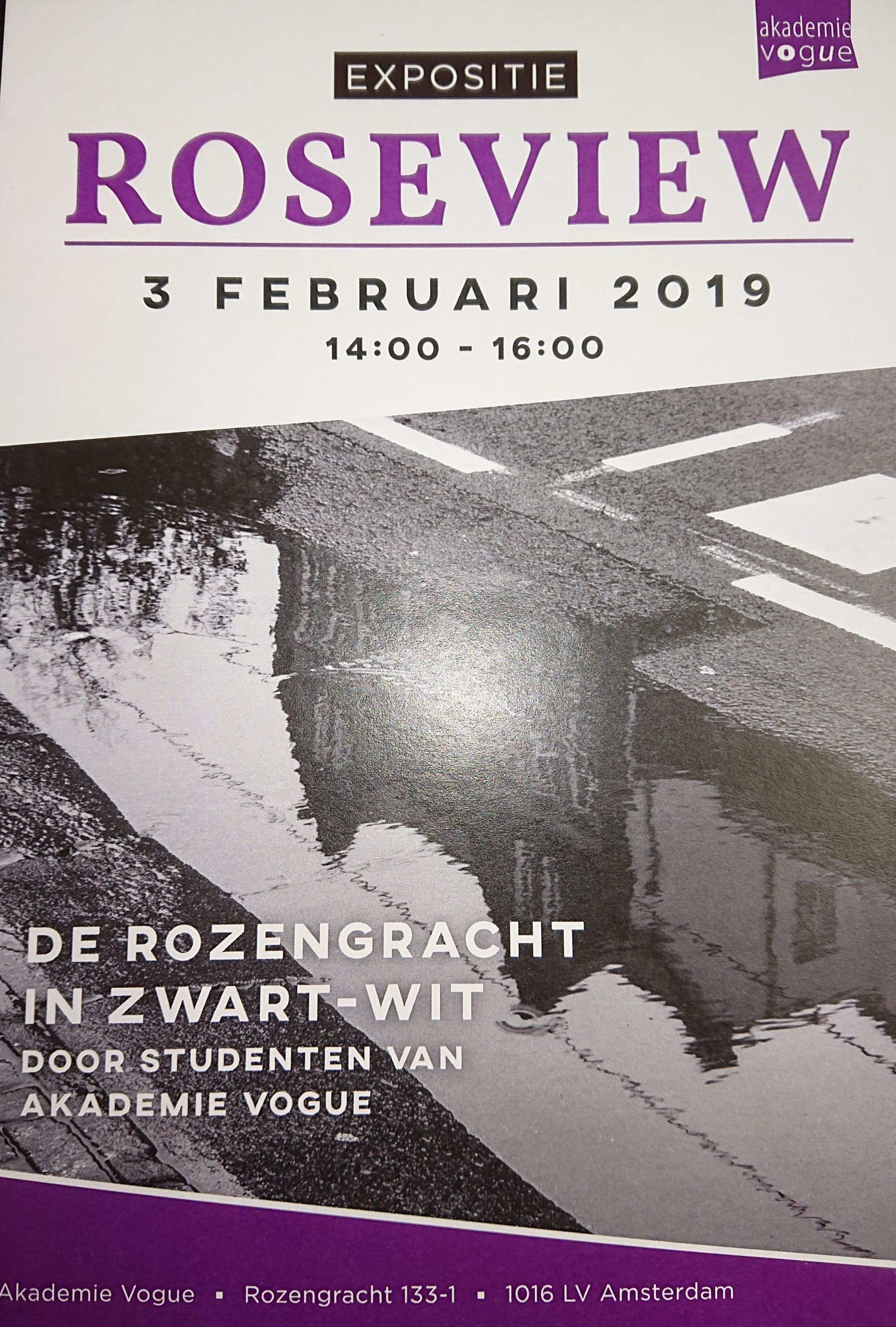 Roseview foto expositie 3 Februari